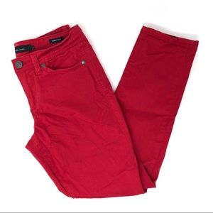 Calvin Klein Jeans Red Skinny Crop Jeans